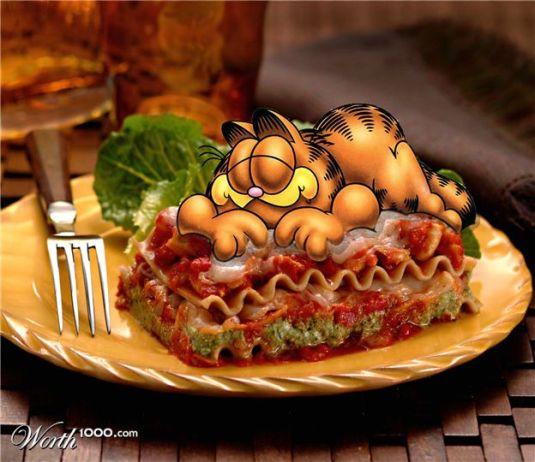 Garfield's Idolatory love for lassagna