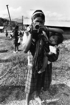 Estella, Zapatista video maker, April 2003