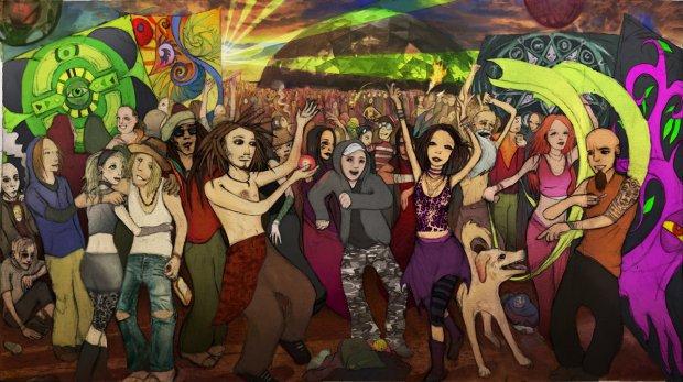 psy trance rave